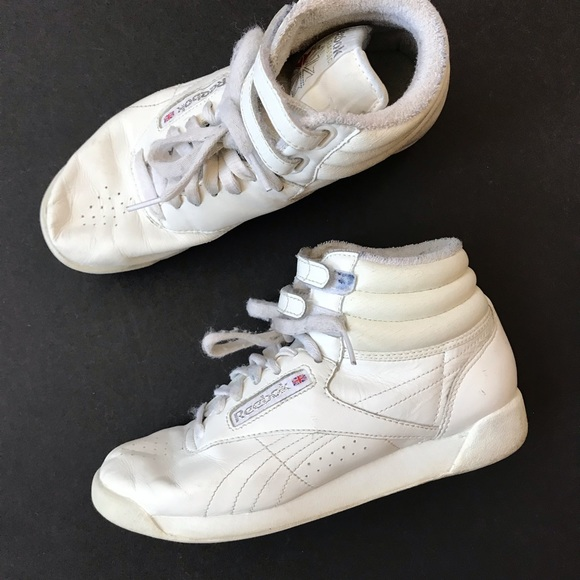 check out 02637 6c1b9 Vtg Reebok Classic Leather High Top Retro Shoes